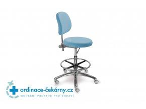 Židle s kulatým sedákem MEDI 1255 G Dent (Barva sedáku ATLANTA - 26 T4, Typ koleček Měkká na tvrdé podlahy)