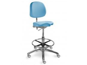 Zdravotnická židle pro přední sezení MEDI 1258 G Dent (Barva sedáku ATLANTA - 26 T4, Typ koleček Měkká na tvrdé podlahy (standard))