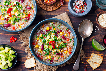 "Jihoamerické Quinoa ""stew"""