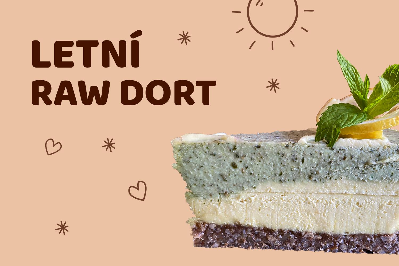 Letní citronovo-mátový raw dort
