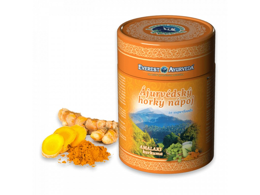Everest Ayuverveda himalájský horký nápoj Amalaki + Kurkuma 100 g