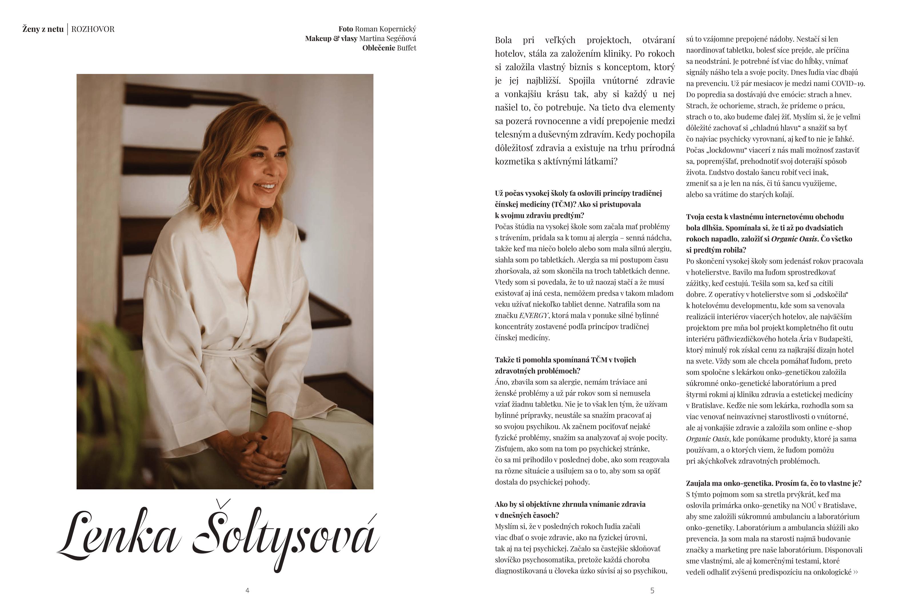Ženy z Netu - Interview so zakladateľkou Organic Oasis Lenkou Šoltysovou