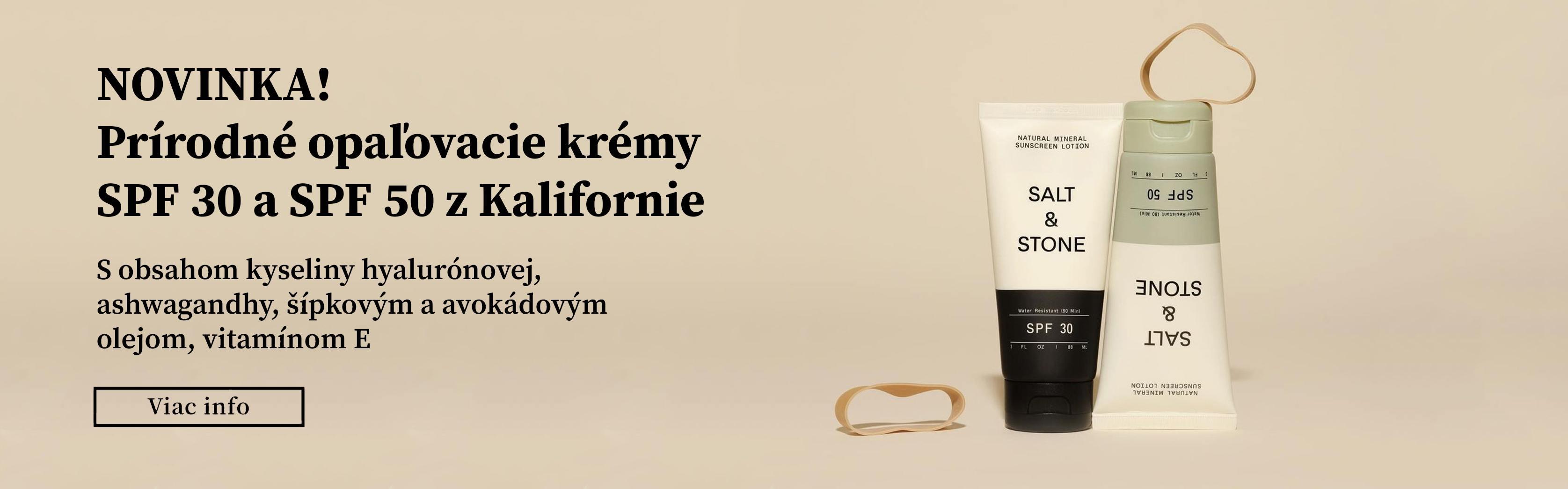 SALT & STONE SPF Novinka