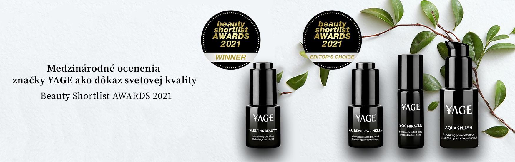YAGE Beauty Shortlist Awards Winner