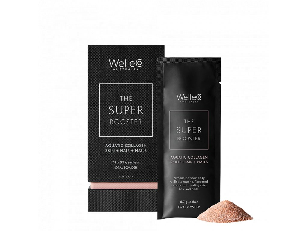 welleco boosters aquatic collagen skin hair nails 14pk 01