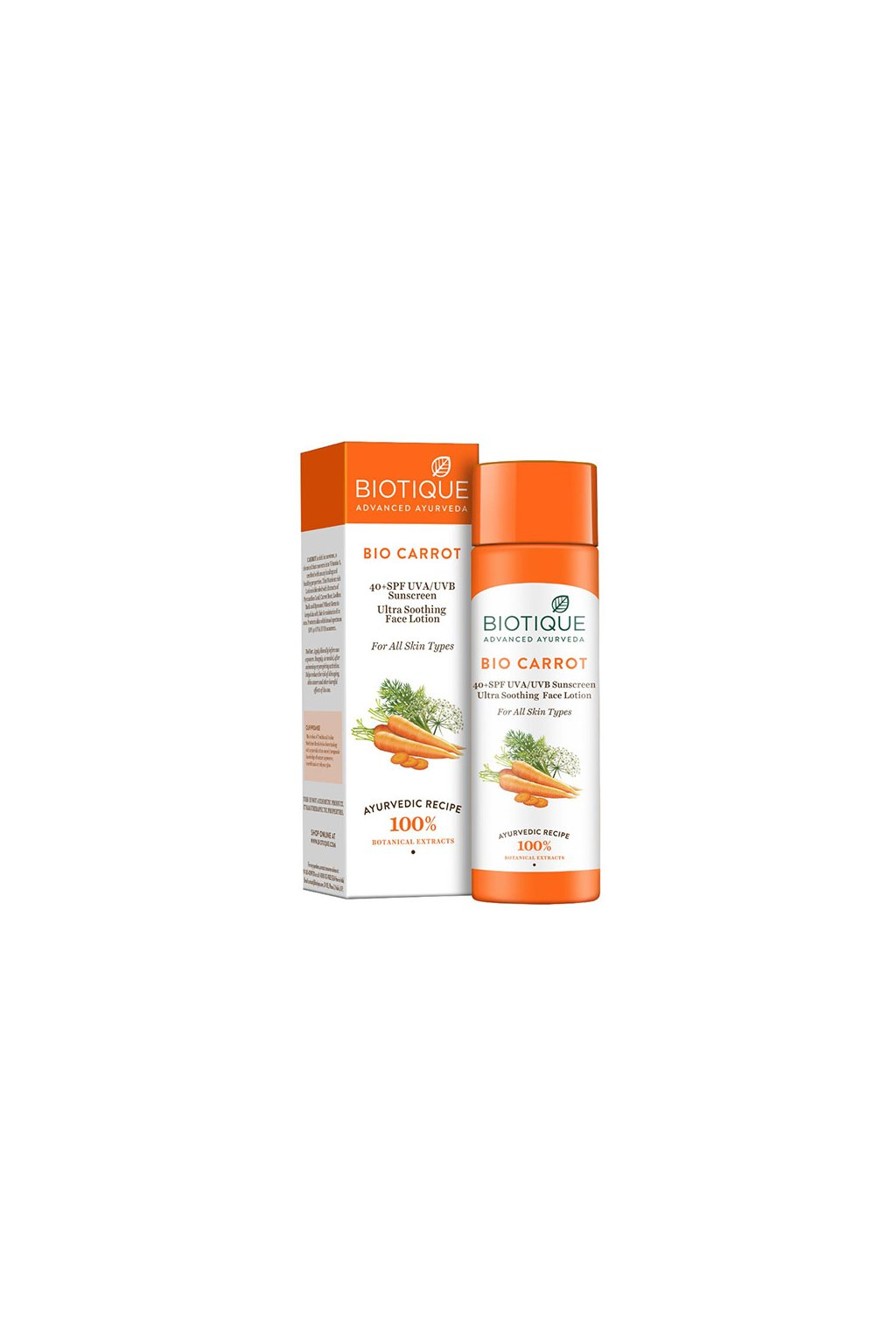 Bio carrot lotion SPF 40 , 120 ml[3433]