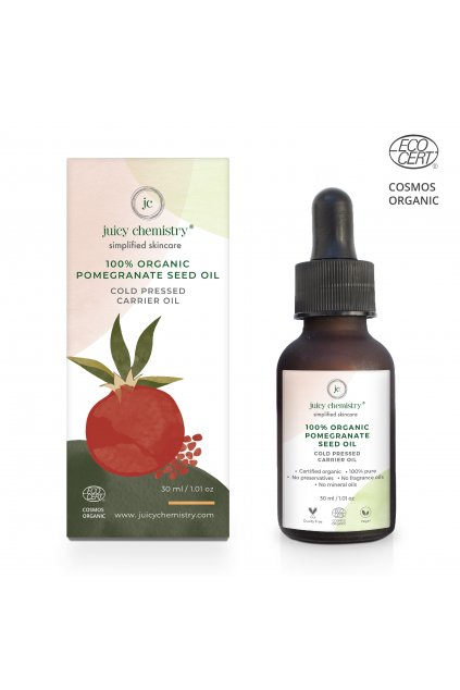 POMEGRANATE SEED OIL box with bottle