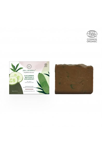Cucumber Soap With box cucumber, matcha and spermint