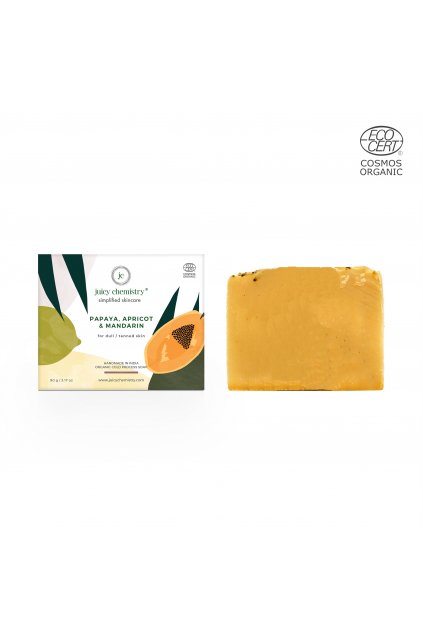 Soap With box papaya, apricot and mandarin