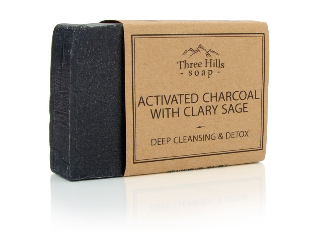Tree Hills Soap přírodní mýdlo s aktivním uhlím a šalvějí