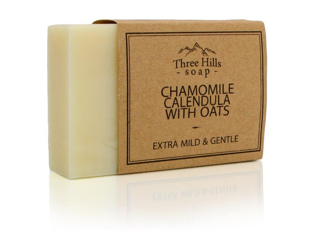 Three Hills Soap přírodní mýdlo heřmánek a měsíček s ovesným mlékem