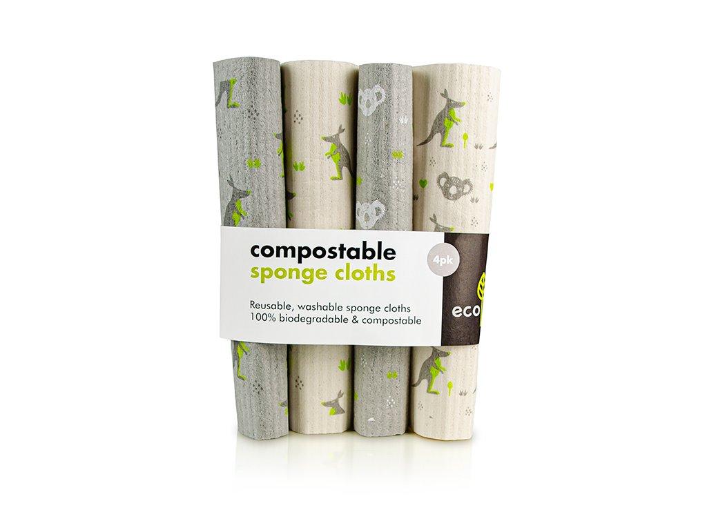 Ecoliving compostable sponge cloths
