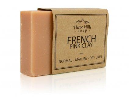Three Hills Soap přírodní mýdlo z francouzského růžového jílu