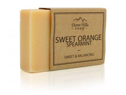 Three Hills Soap přírodní mýdlo pomeranč a máta