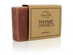 Three Hills Soap přírodní mýdlo s tymiánem a vůní citronové trávy