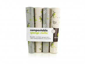 Ecoliving compostable sponge cloths