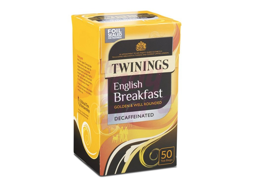 Twinings English Breakfast bez kofeinu