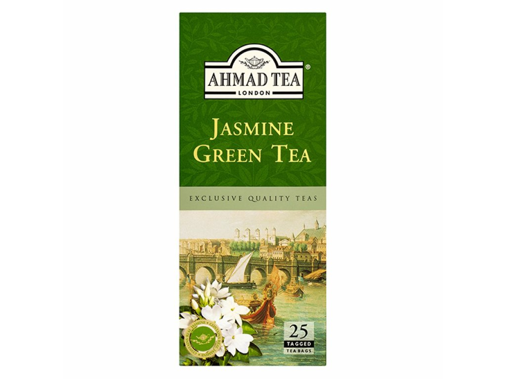 Ahmad Tea Zelený čaj s květy jasmínu 25 sáčků