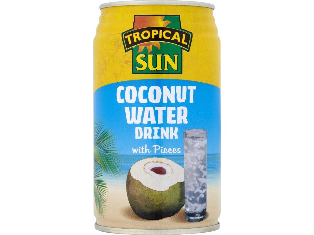 Tropical Sun Přírodní Kokosová Voda s kousky 330Ml