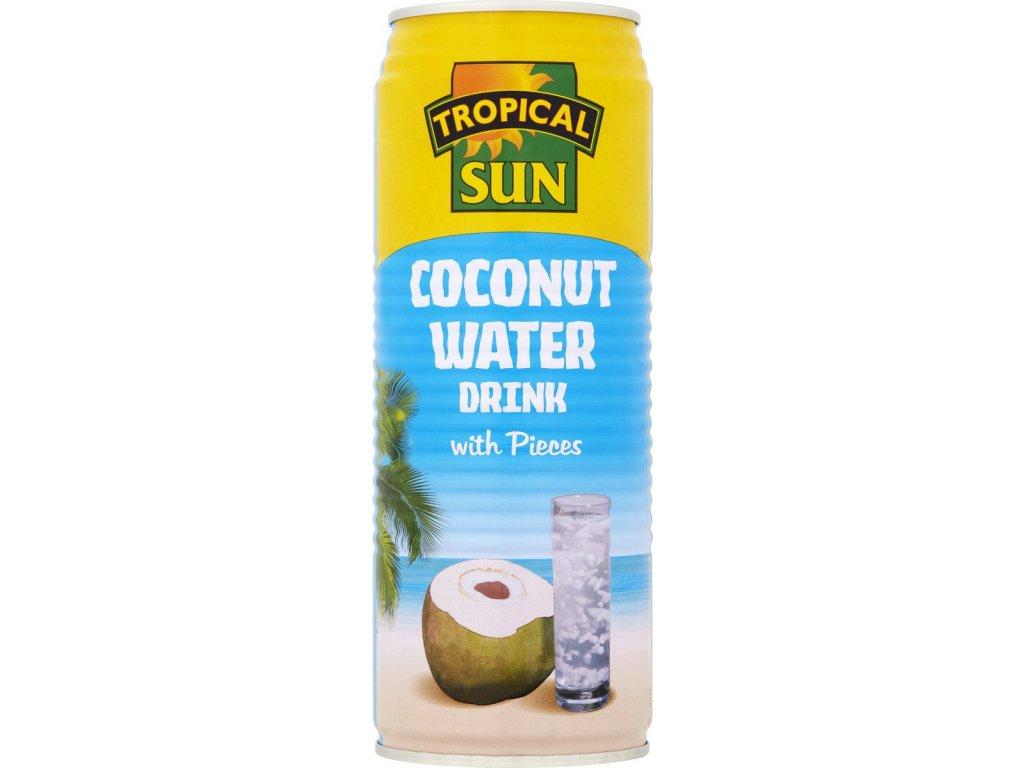 Tropical Sun Přírodní Kokosová Voda s kousky 520Ml