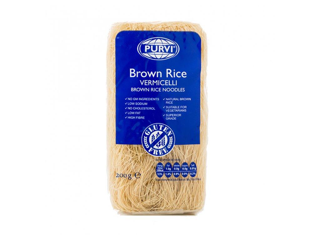 Hnědé rýžové nudle 200g