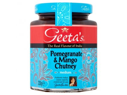Geeta's Granátové Jablko&Mango Chutey 230g