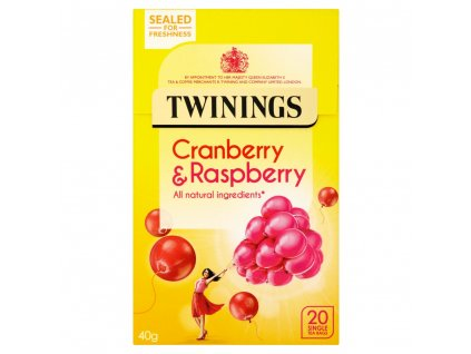 Twinings čaj Brusinka&Malina 20Ks