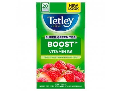 Tetley čaj s příchutí maliny&jahody