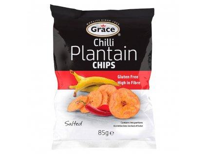 Grace Chipsy s příchutí jitrocele a chilli