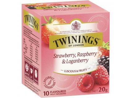 Twinings čaj s příchutí jahody, maliny a ostružiny