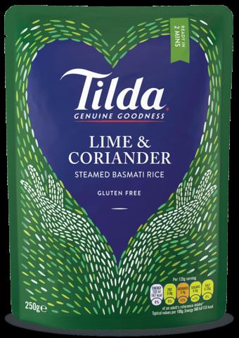 Tilda dušená rýže s příchutí Limetky&Koriandru 250g