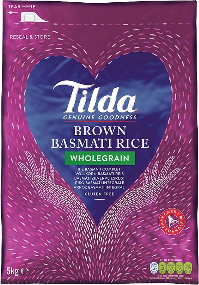 Tilda Celozrnná Hnědá Basmati Rýže 5Kg