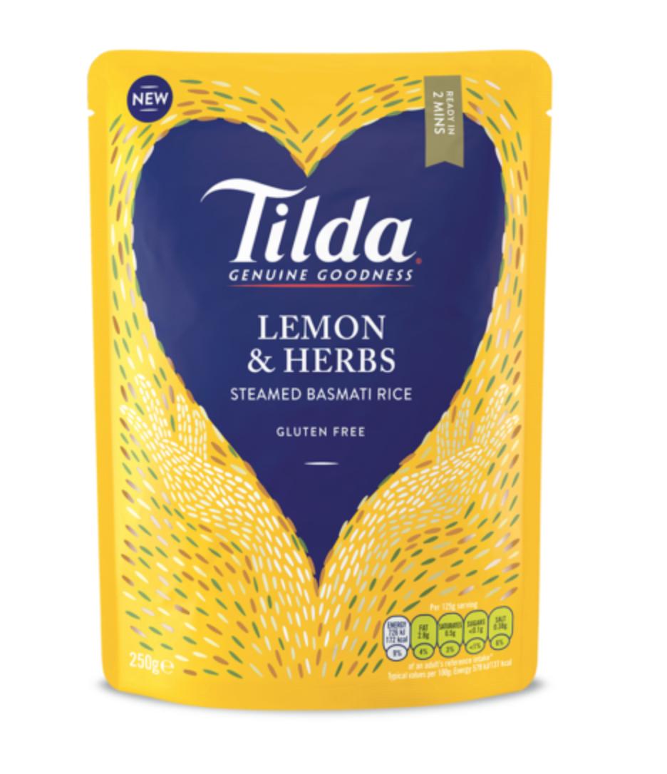 Tilda dušená basmati rýže citrón&bylinky 250g