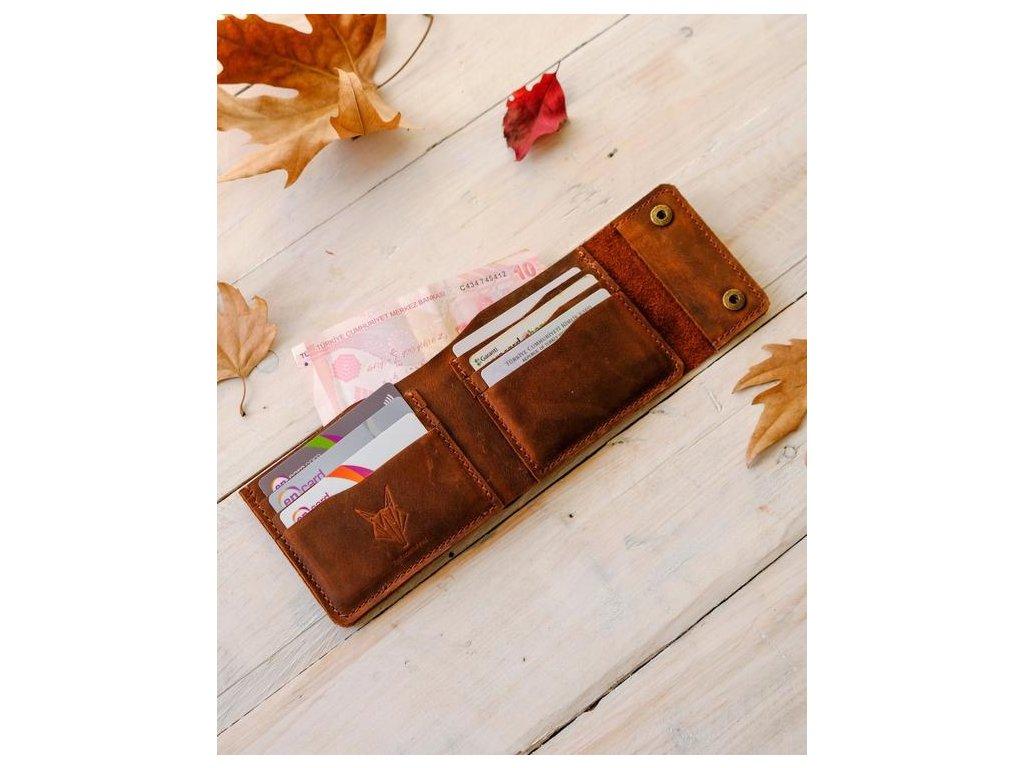 Kožená peněženka s cvočky 1