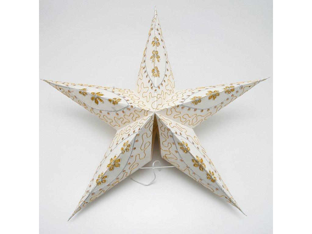 Lampion stínidlo hvězda Sitara bílá