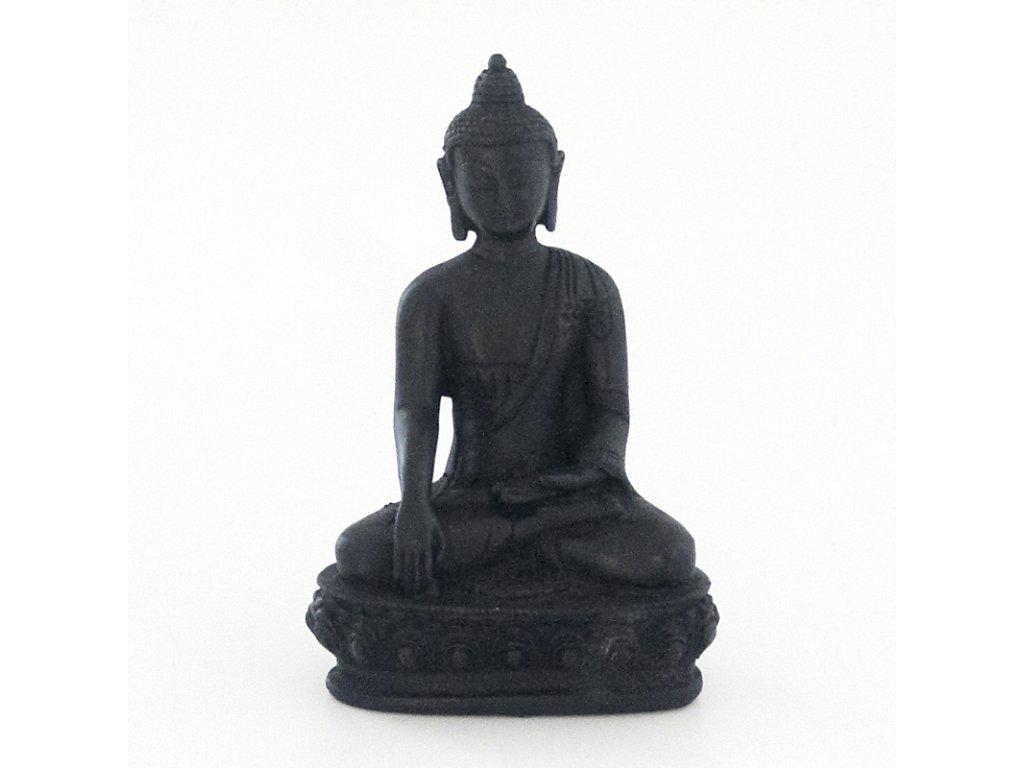 Soška resin Buddha 20 cm černá