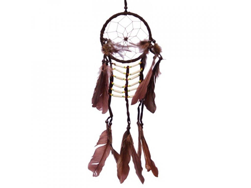 Lapač snů Native American 11 cm hnědá