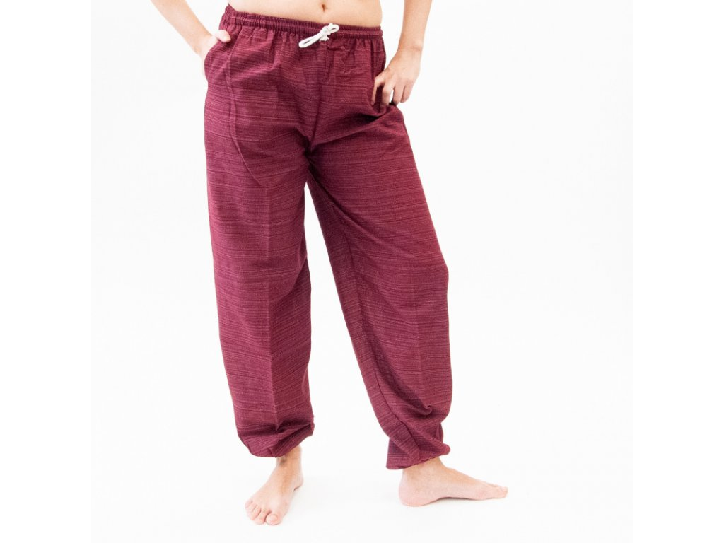 Kalhoty dámské Yoga Achara červená