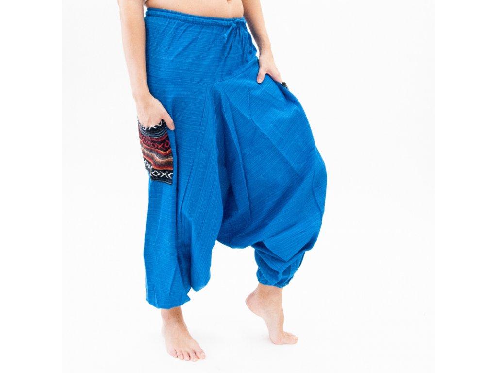 Kalhoty turecké dámské Sopa tmavě modrá