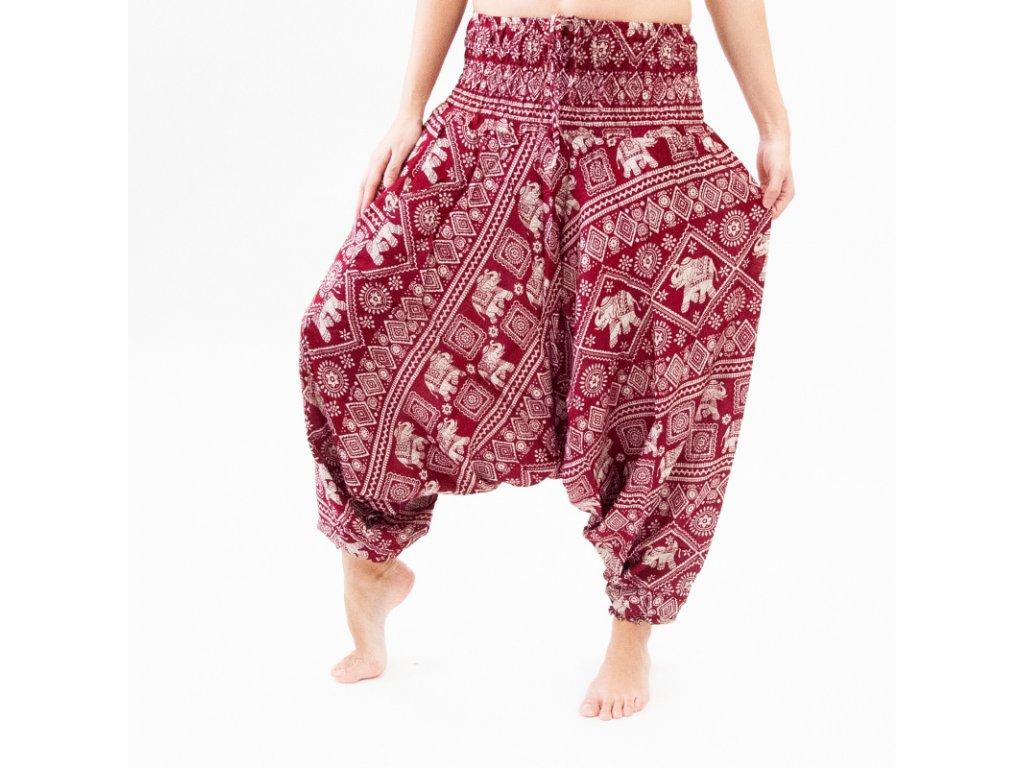 Kalhoty turecké dámské Elephants 01 L vínová