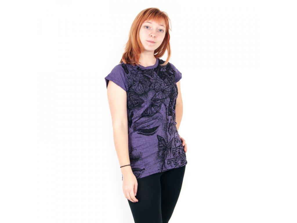 Tričko dámské SURE Butterfly Buddha S červená