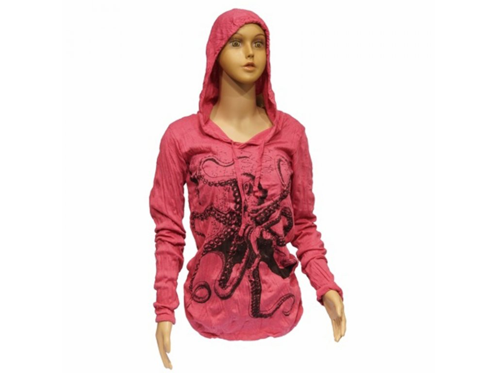 Tričko dámské SURE Octopus dlouhý rukáv S růžová