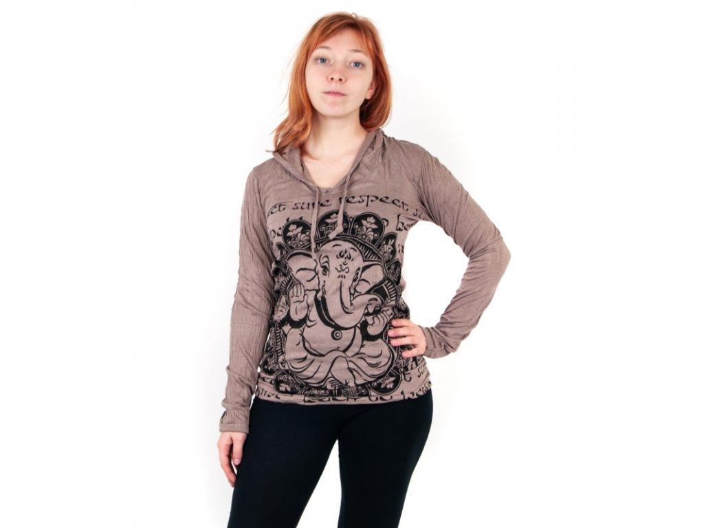 Tričko dámské SURE Baby Ganesh dlouhý rukáv S lososová