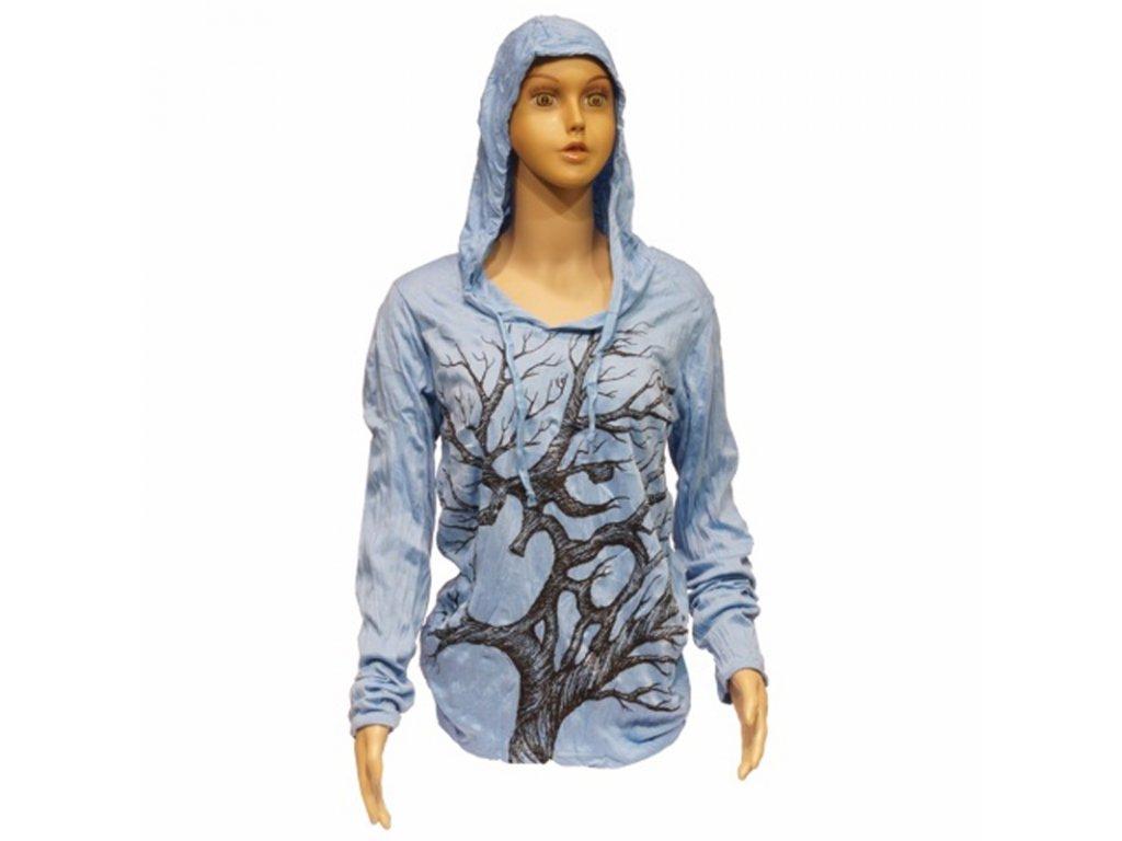 Tričko dámské SURE Tree Ohm dlouhý rukáv S bílá