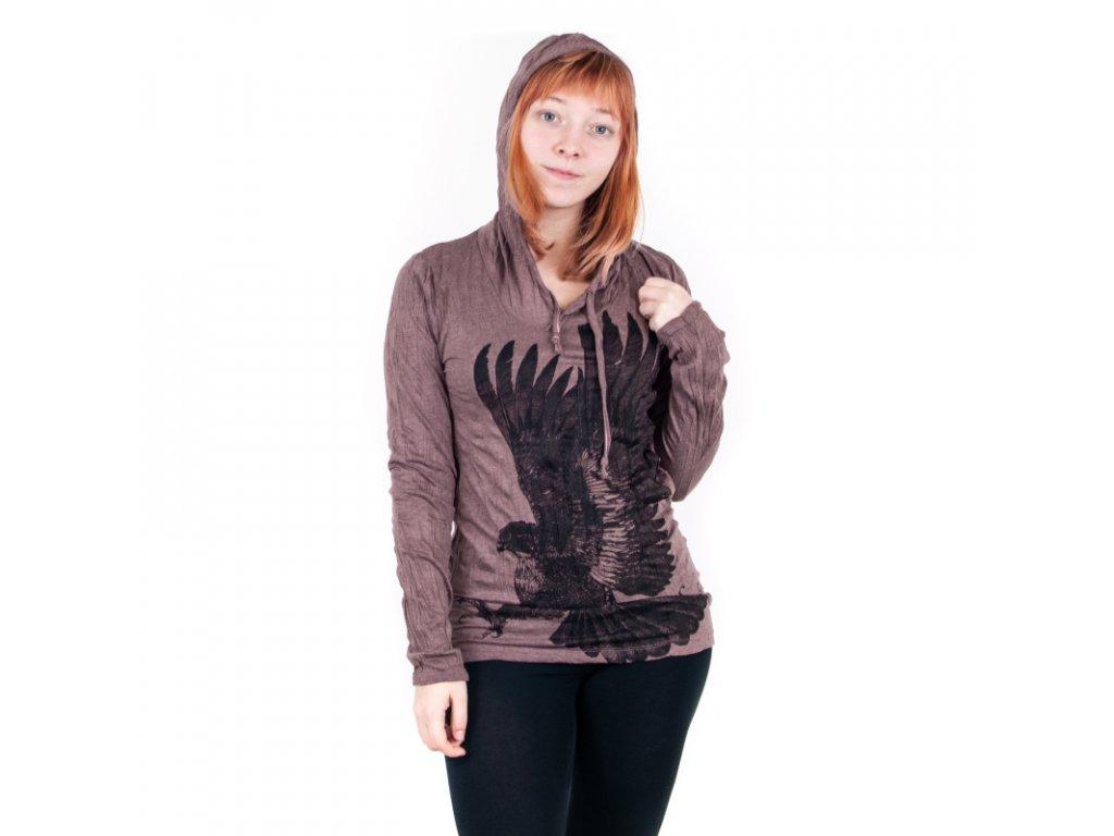 Tričko dámské SURE Eagle dlouhý rukáv S bílá