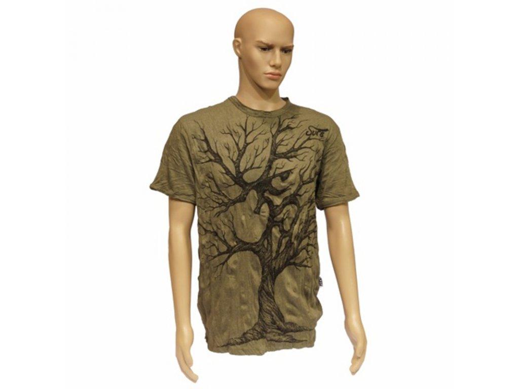 Tričko pánské SURE Tree Ohm L khaki