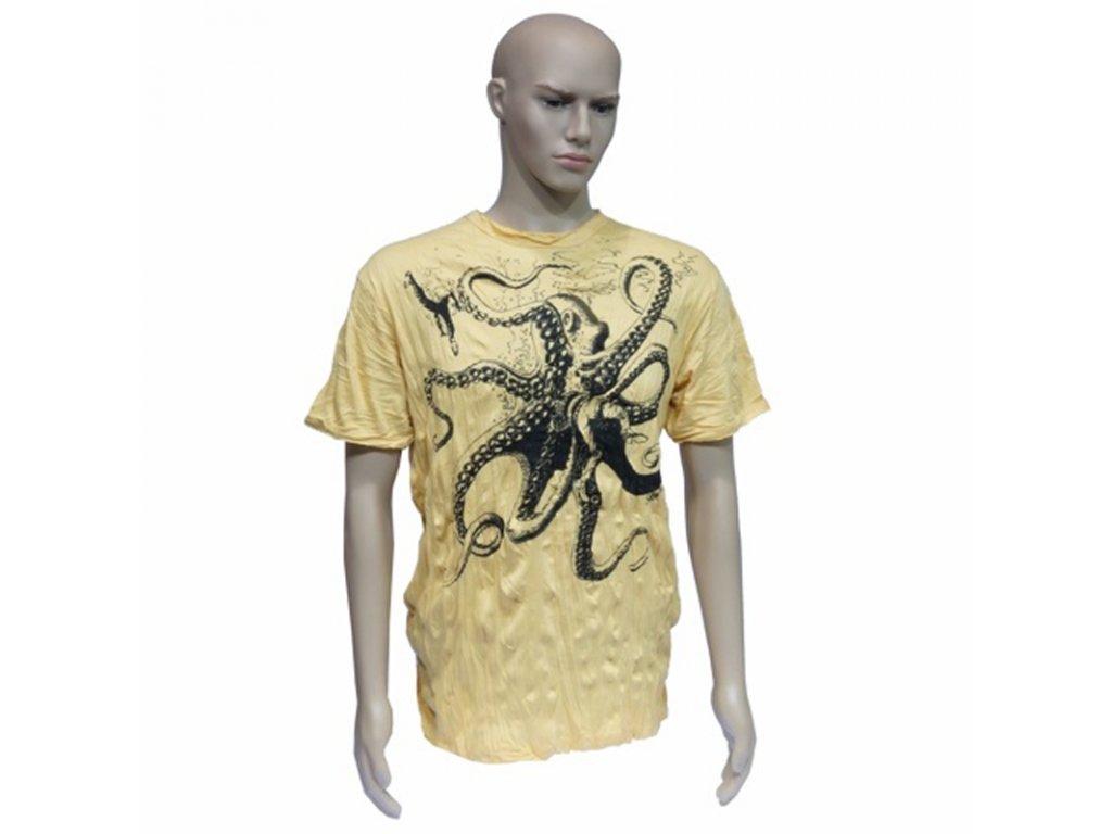 Tričko pánské SURE Octopus L žlutá
