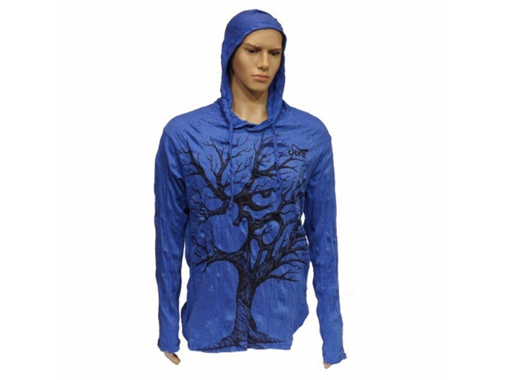 Tričko pánské SURE Tree Ohm dlouhý rukáv L modrá
