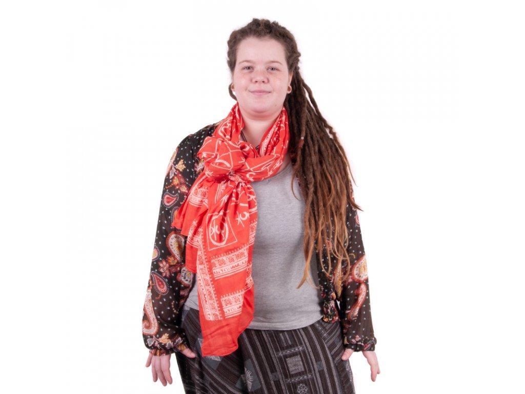 Šátek Ohm červená