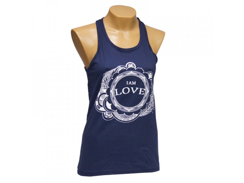 Tílko dámské LOVE L modrá
